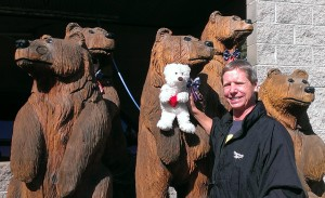 Bob with Louie and his bear buddies