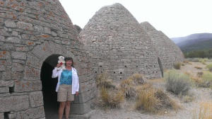 Sherry and Louie by the Coke ovens near Ely, NV