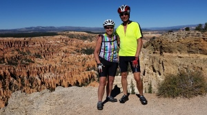Ellen and Bob at Bryce Amphitheater, Bryce Point, Utah