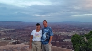 Sherry and Bob overlooking Canyonlands National Parks, Utah