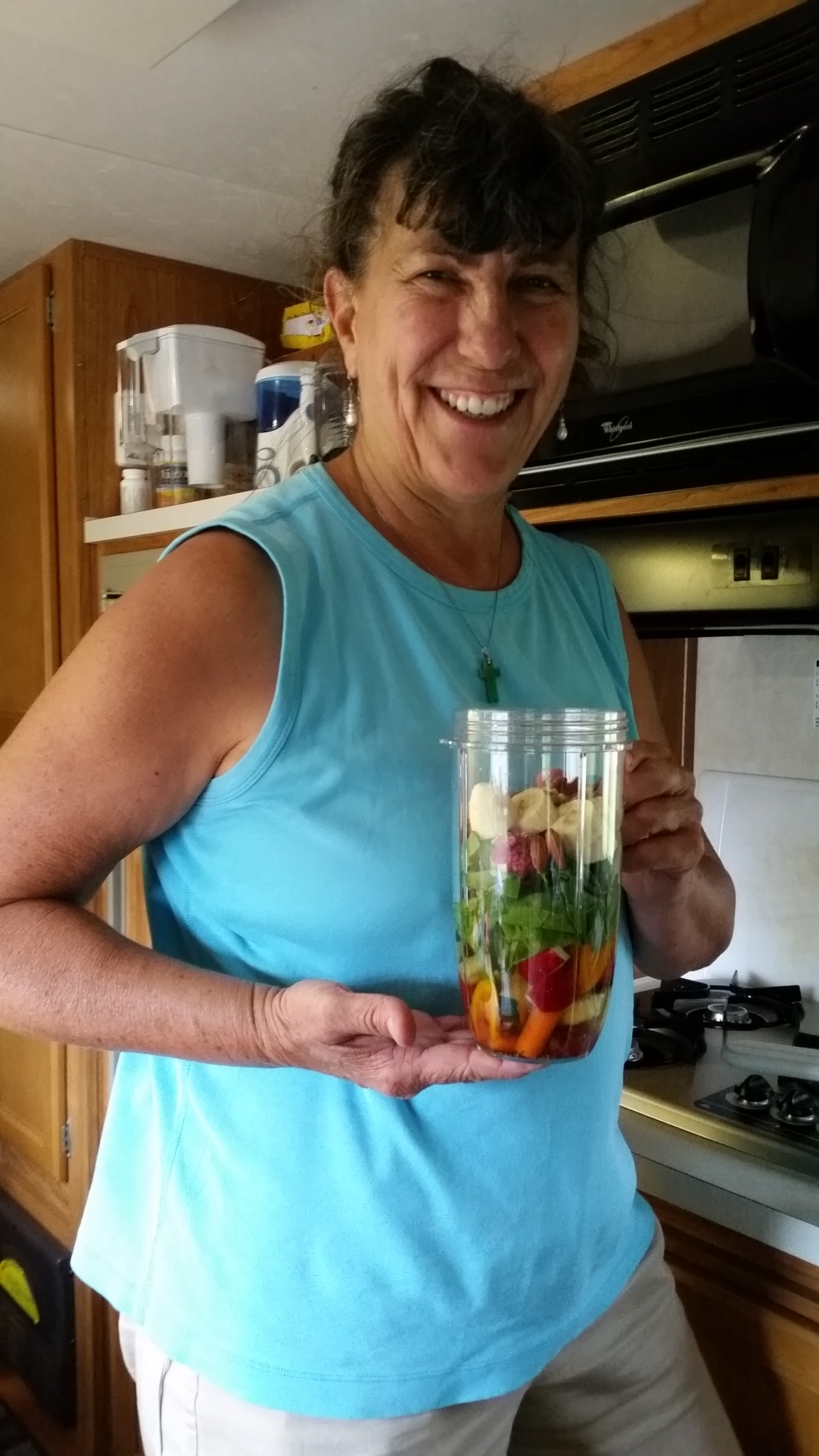 2016-04-29 15.11.21 Sherry making healthy drinks in her new NutriBullet