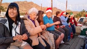 2017-12-22 Sherry and Bev on Christmas Caroling Hay Ride